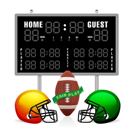 to score: Home and Guest Scoreboard