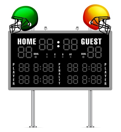Home and Guest Scoreboard Vektorové ilustrace