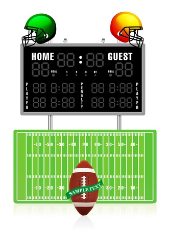scoreboard: Home and Guest Scoreboard
