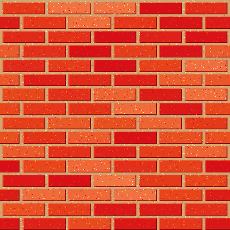 Red brick seamless wall with noise textures. EPS8 Vector