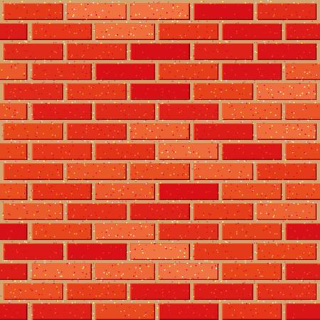 mur platre: Rouge brique paroi transparente avec des textures de bruit. EPS8