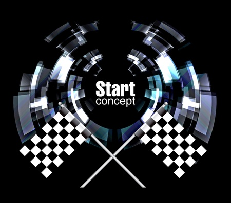 Checkered Background, eps10 on black Vector