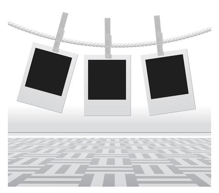 photographs: Designer concept - blank photo frames for your photos Illustration