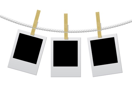 Designer concept - blank photo frames for your photos Illustration