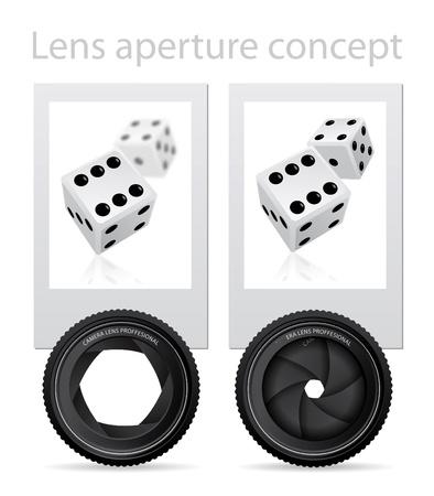 Lens aperture Stock Vector - 8391421