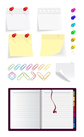 yellow tacks: Note_set(18).jpg Illustration