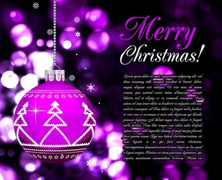 trumpery: Background with Christmas balls, illustration Illustration