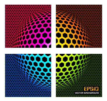 abstract zoom: Technology color background -  illustration