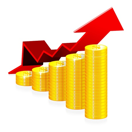 stack of coins: Financial success concept