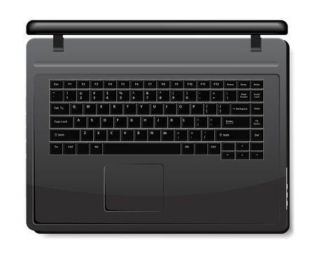 Notebook Black Stock Vector - 8616424