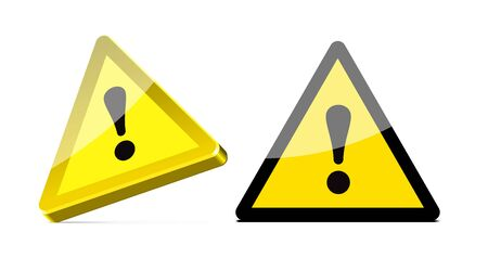 the precaution: triangular warning sign on white background