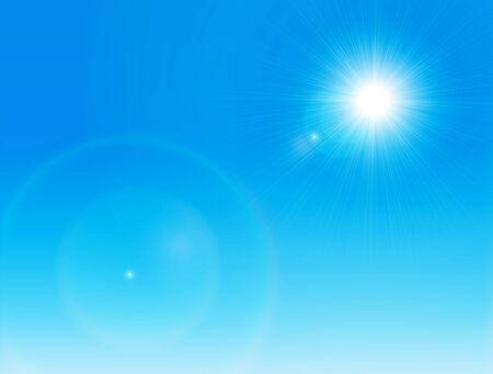 clear sky: Sun on a clear sky Illustration