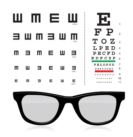 reading glass: eye test