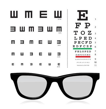 occhiali da vista: occhio di prova Vettoriali