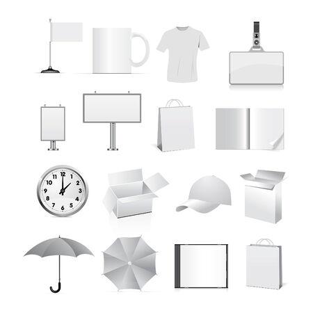 sjabloon voor corporate identity geïsoleerd op een witte achtergrond.   Vector Illustratie