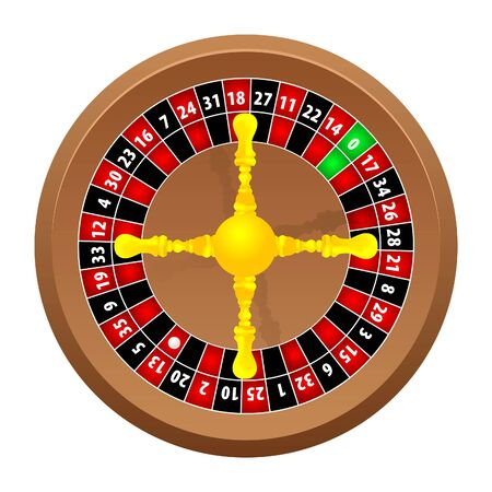 luck wheel: roulette casino Illustration