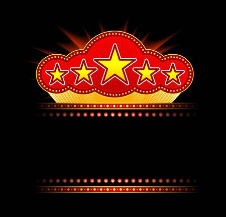 Blank movie, theater or casino marquee Vector