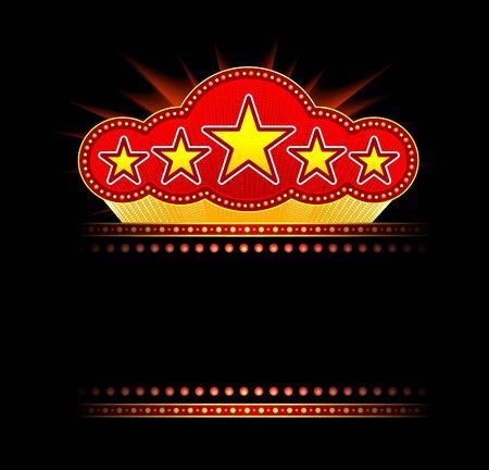 marquee sign: Tendone bianco di film, teatro o casino