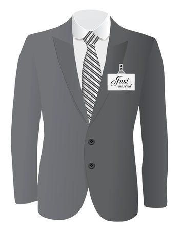 coat and tie: suit for wedding conept