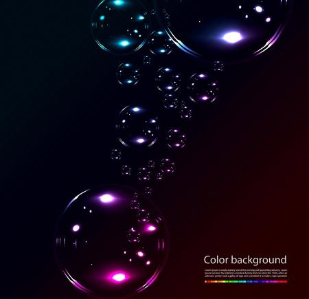 soap bubbles: Seifenblasen auf schwarzem Hintergrund