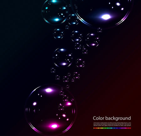 Soap bubbles on black background Illustration