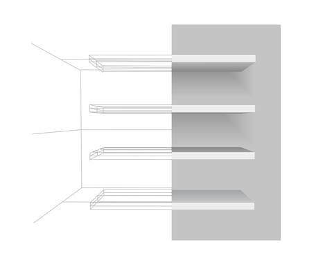 shelves  Stock Vector - 9041039