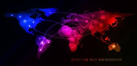 世界地図とグローバル ビジネスの概念。ベクトル イラスト