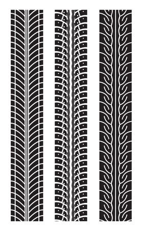 tyre tread: repeating tire tracks
