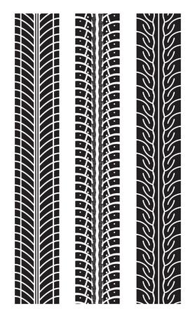 traces pneus: traces de pneu extensible Banque d'images