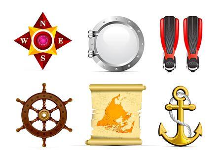 scroll wheel: Sailing icon set