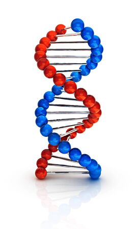 Dna 3d render illustration isolated on white background