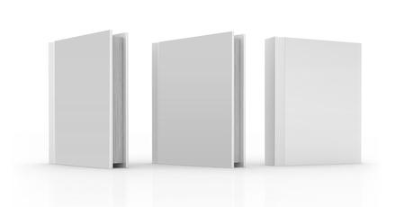 portadas de libros: libro 3D con una portada en blanco aislada sobre fondo blanco