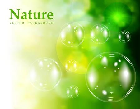 石鹸の泡  イラスト・ベクター素材
