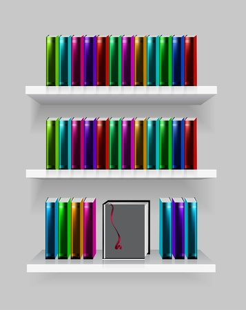 modern bookshelf Stock Vector - 9352923