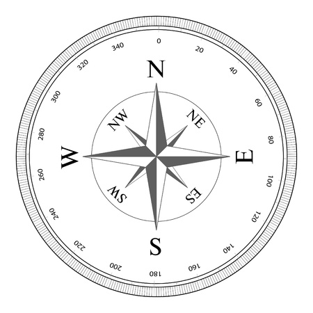 Compass rose isolated on white Stock Vector - 9352920