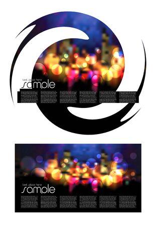 Magazine Layout Design Template Stock Vector - 9470400
