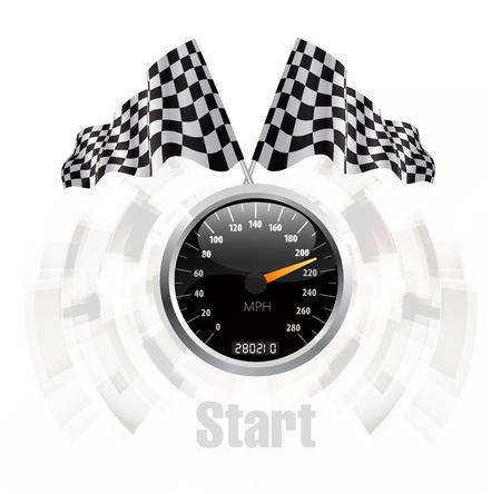 emblem racing: Speedometer background Illustration