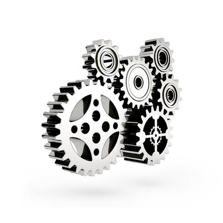 El mecanismo. Gear 3d. Foto de archivo