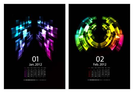 Calendar set Stock Vector - 9636989
