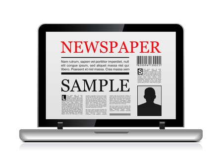 Online newspaper Stock Vector - 9679395