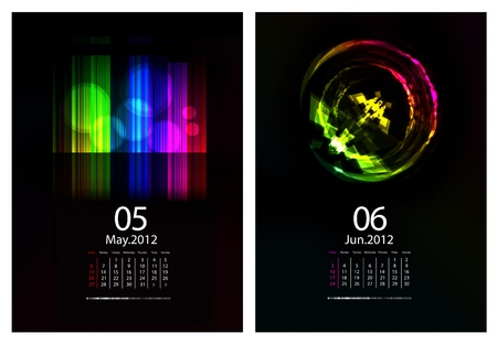Calendar set. May and June 2012 Stock Vector - 9716874