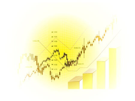 Stock Market Chart Stock Vector - 10102802