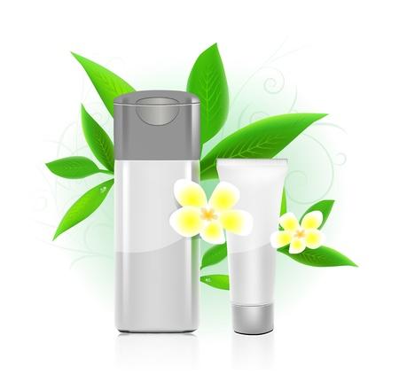 Série de produits de beauté SPA. bouteilles de cosmétiques