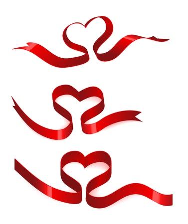 Heart from ribbon Stock Vector - 10253900