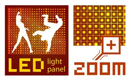 led: led diode display panel background