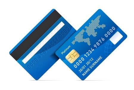 tarjeta visa: Tarjeta de crédito Vectores