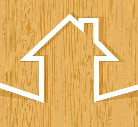 Wooden house concept Vector