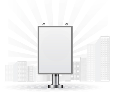 advertisement: Blank advertising billboard Illustration