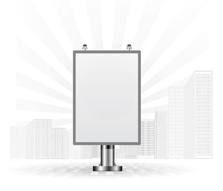 advertising billboard: Blank advertising billboard Illustration