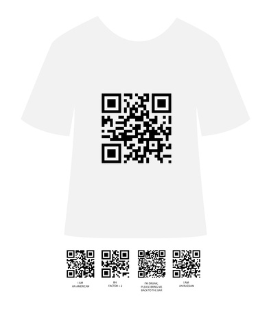 qrcode: t shirt design Illustration